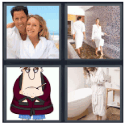 4-pics-1-word-bathrobe