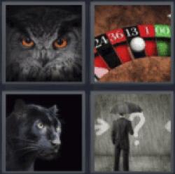 4-pics-1-word-black