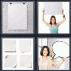 4 Pics 1 Word A white piece of paper