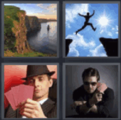 4 pics 1 word cliff with water
