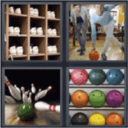 4 pics 1 word bowling