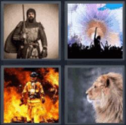 4 Pics 1 Word Man in armor
