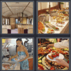 4-pics-1-word-buffet