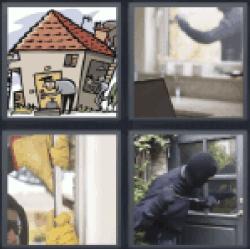 4-pics-1-word-burgle