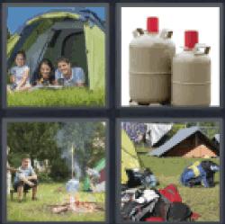 4-pics-1-word-camping