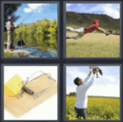 4 pics 1 word man fishing