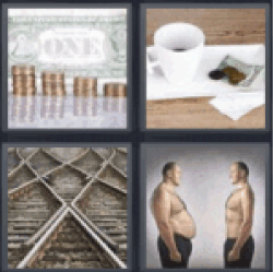 4 pics 1 word dollar bill coins