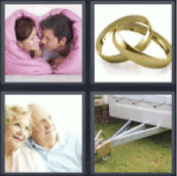 4 pics 1 word couple in pink blanket