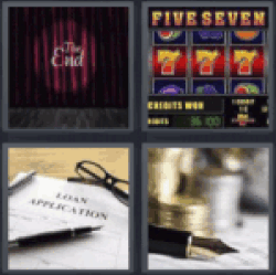 4 Pics 1 Word The End