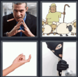 4-pics-1-word-crook