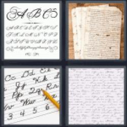 4-pics-1-word-cursive