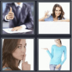 4 pics 1 word man with thumbs up