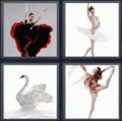 4 Pics 1 Word Dancer in red dress