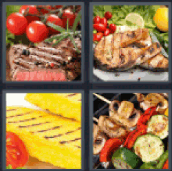 4-pics-1-word-grilled