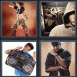 4 pics 1 word hip hop dancer