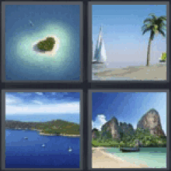 4 Pics 1 Word Heart shaped island