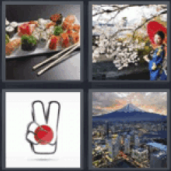 4 Pics 1 Word Japanese woman