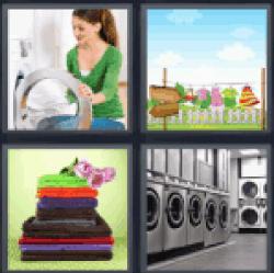 4-pics-1-word-laundry