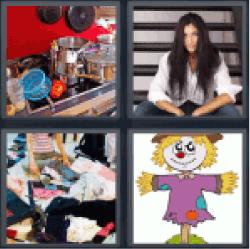 4-pics-1-word-messy