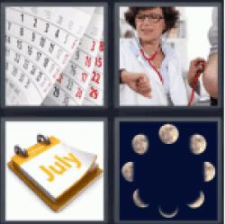 4-pics-1-word-month