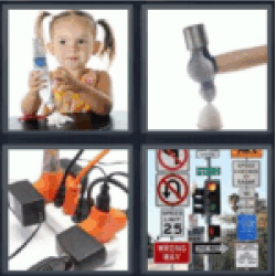 4 pics 1 word hammer girl with toothpaste