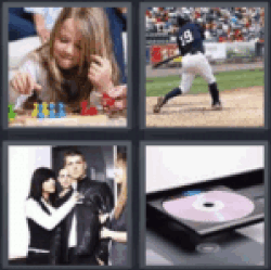 4 pics 1 word little girl playing a game