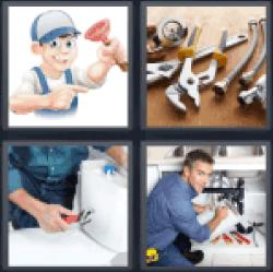 4-pics-1-word-plumber