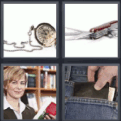4 pics 1 word pocket watch