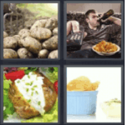 4-pics-1-word-potato