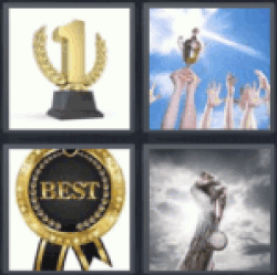 4 pics 1 word trophy with 1