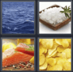 4 pics 1 word salt water chips