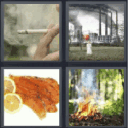 4 Pics 1 Word Smoking cigarette