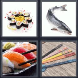 4-pics-1-word-sushi