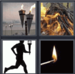 4 pics 1 word fire