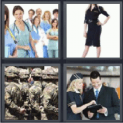 4 Pics 1 Word Nurses and doctors