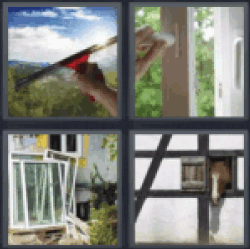 4-pics-1-word-window