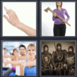 4 pics 1 word woman carrying an axe