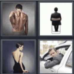 4 pics 1 word man holding back