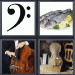 4 pics 1 word bass clef
