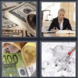 4 pics 1 word money cash
