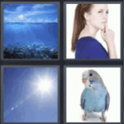 4 pics 1 word blue skies
