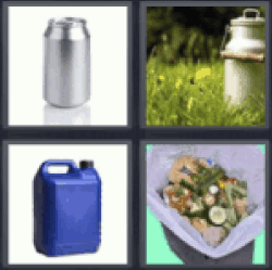 4 pics 1 word containers