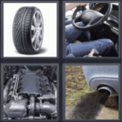 4 pics 1 word tire steering wheel