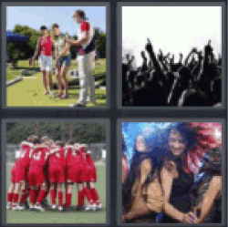 4 pics 1 word playing golf