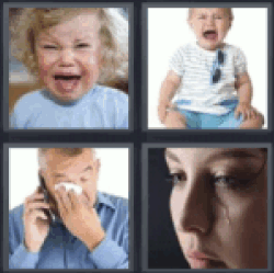 4 pics 1 word baby crying