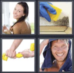 4-pics-1-word-damp