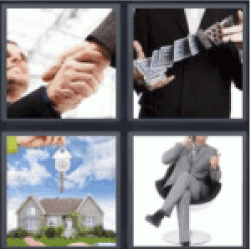 4 pics 1 word shaking hands