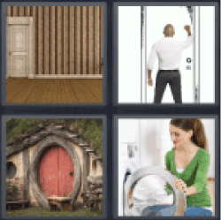 4-pics-1-word-door