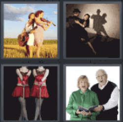 4 Pics 1 Word couple dancing