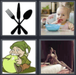 4 Pics 1 Word cutlery
